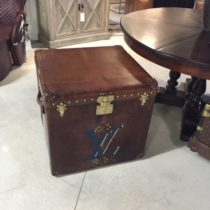 Vintage Trunks Sold: LV Leather Cube